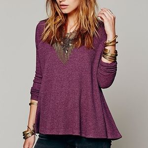Free People Rockabilly Thermal Top in Red